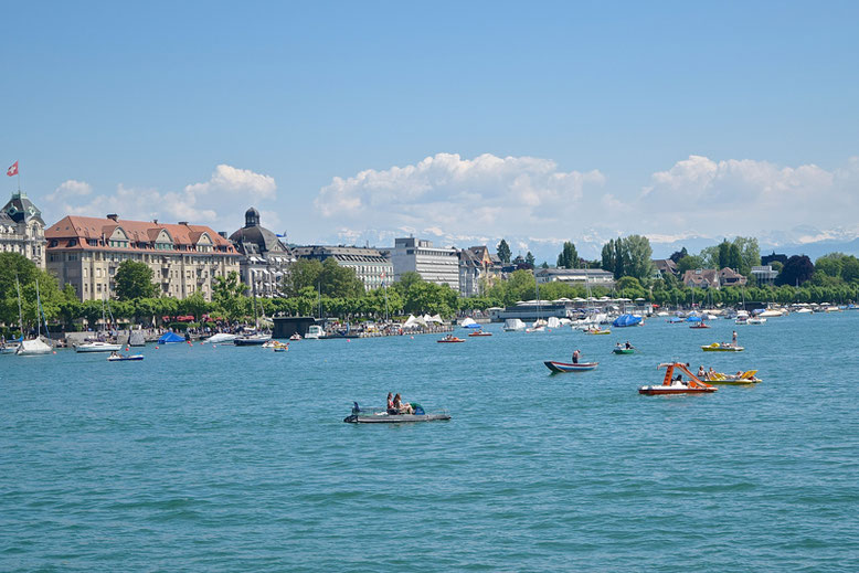 Unique and Cool Things to Do in Zurich, Switzerland - Paddle Boat at Zurich Lake