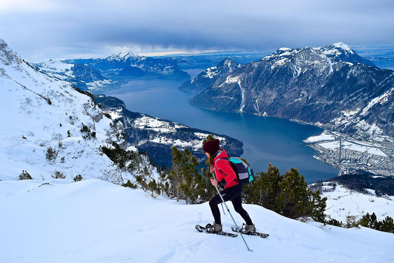 What to Do in Switzerland in Winter - Snowshoeing in Stoos