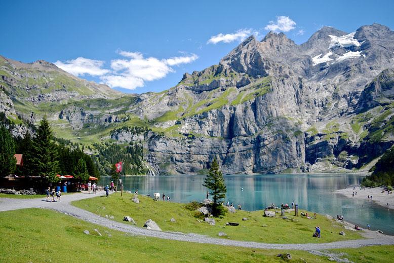 Hiking at Oeschinen Lake