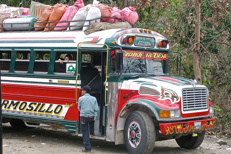 "A Lovely Week in Guatemala - ""Chicken bus"""