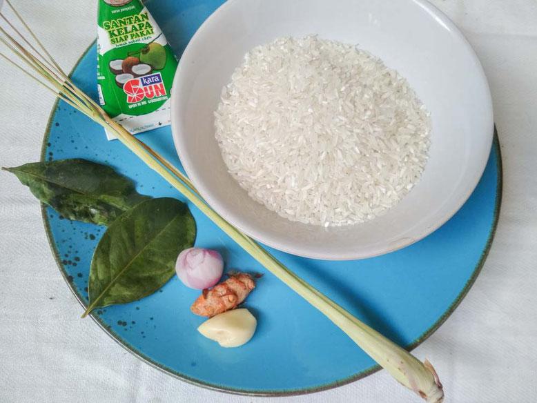 Ricetta Nasi Kuning. Ingredienti
