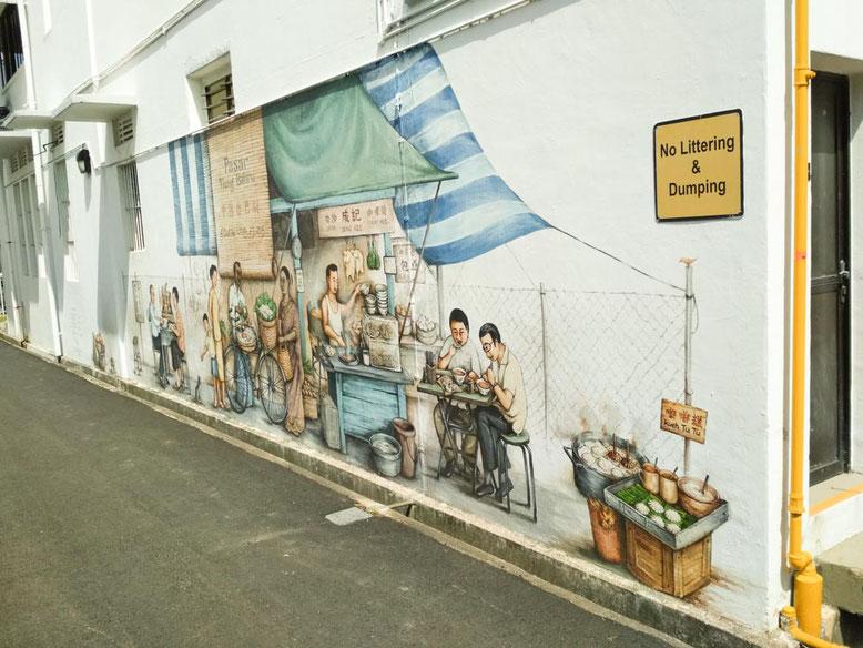 Singapore. Tiong Bahru murales