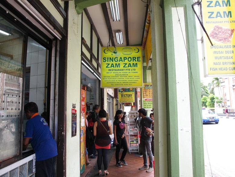 Dove mangiare a Kampong Glam. Singapore Zam Zam