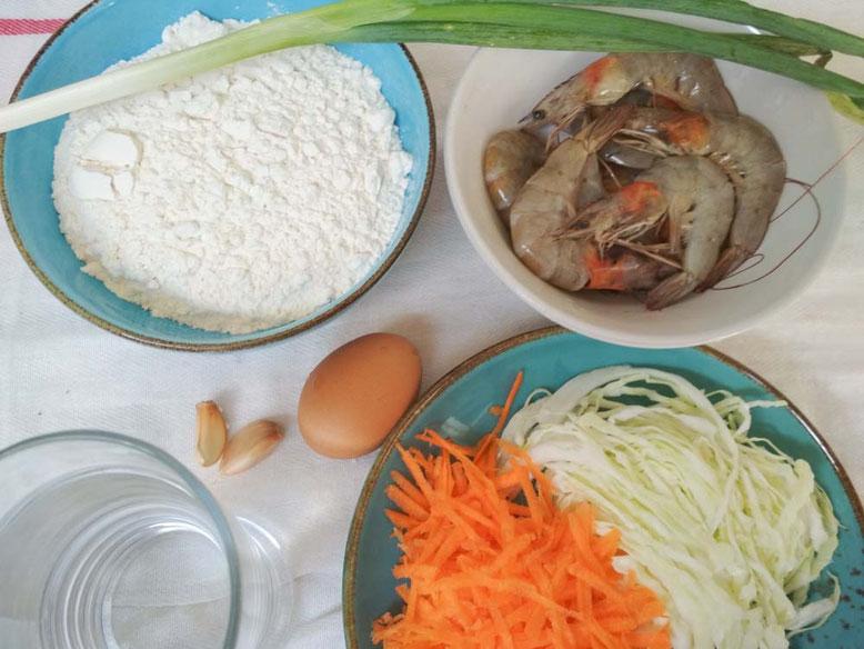Ricetta Bakwan Udang. Ingredienti