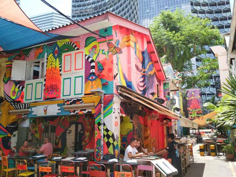 Singapore Kampong Glam. Haji Lane