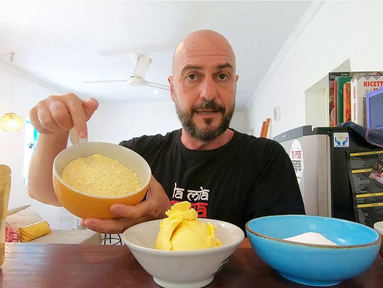 Ricetta Besan ke Ladoo. Ingredienti
