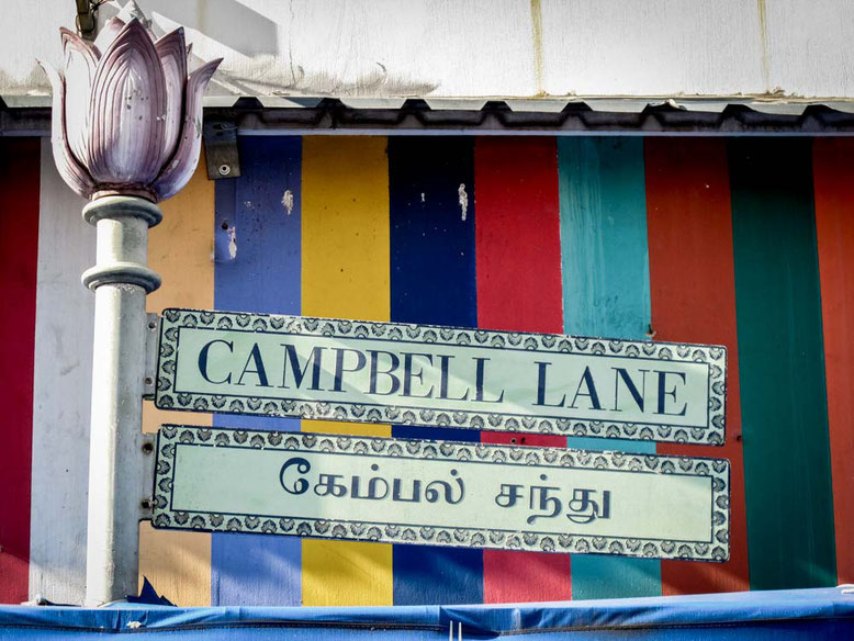 Singapore Little India. Campbell Lane