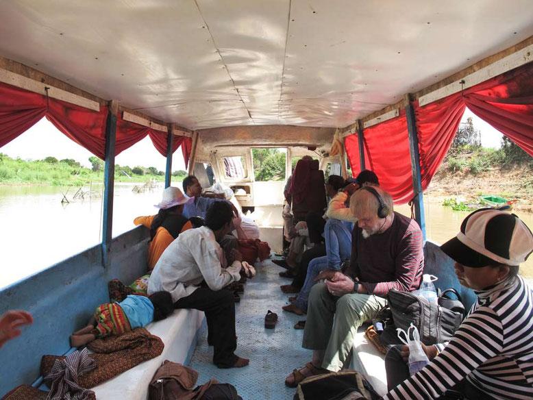 Slow Boat da Battambang a Siem Reap. Passeggeri