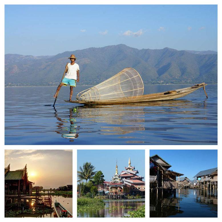Viaggio di gruppo in Birmania. Collage 5