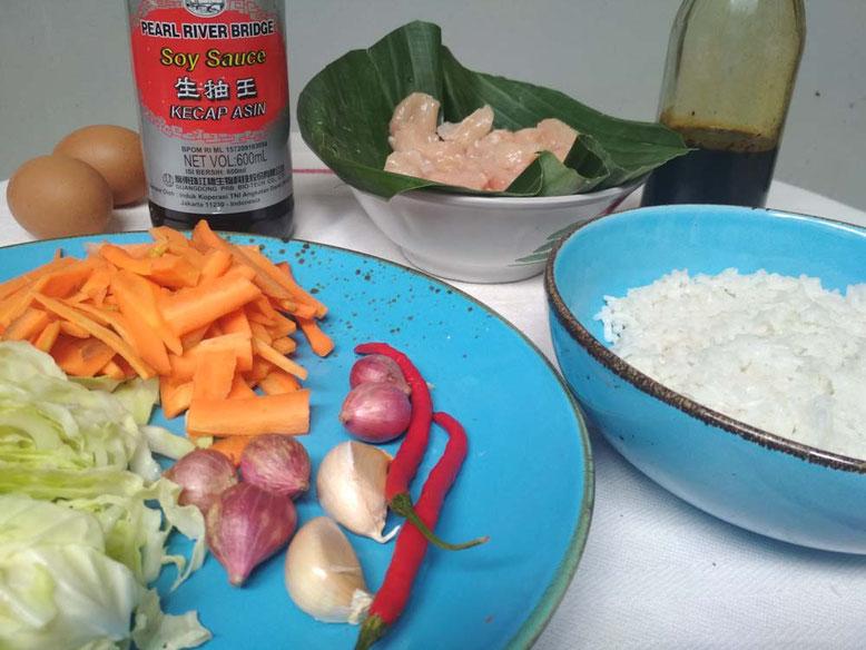 Ricetta Nasi Goreng. Ingredienti