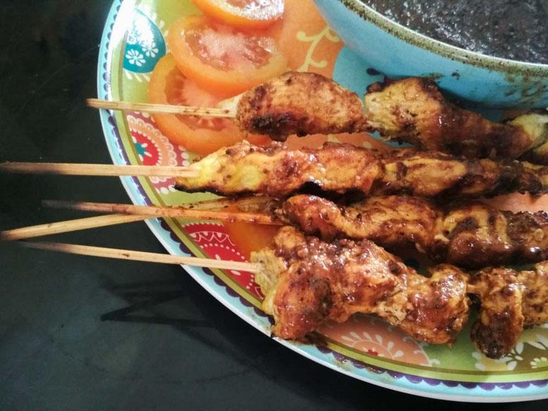 Ricetta Sate Ayam - spiedini indonesiani di pollo con salsa d'arachidi