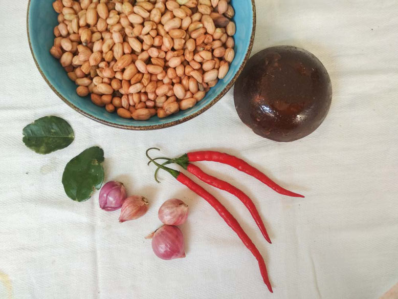 Ricetta Sambal Pecel - salsa di arachidi indonesiana. Ingredienti