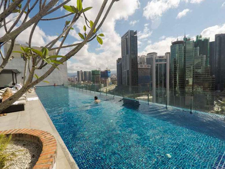 Hotel stripes kuala lumpur la mia asia - Rooftop swimming pool kuala lumpur ...