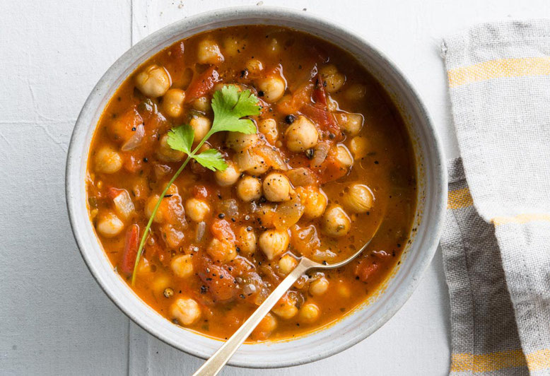 Ricetta Chana Masala, curry indiano di ceci