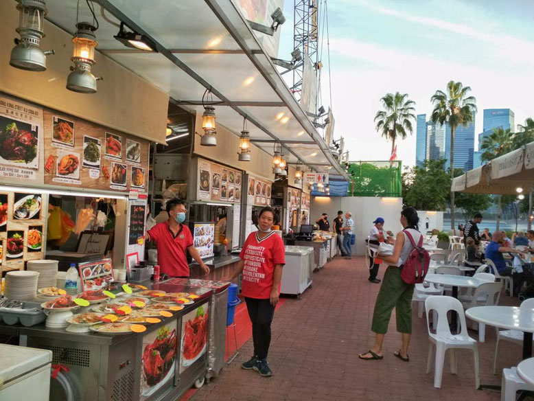 Singapore Marina Bay. Makansutra Gluttons Bay