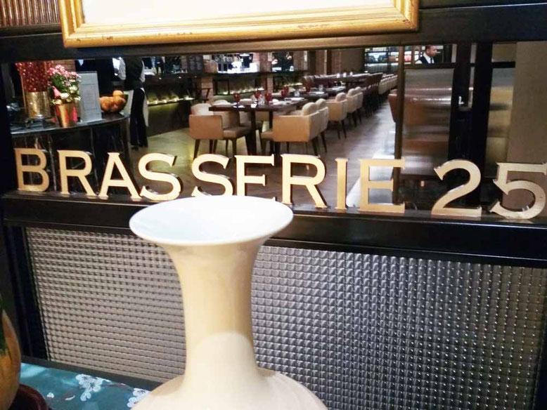 Dove mangiare a Kuala Lumpur. Brasserie 25