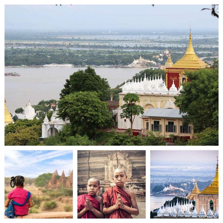 Viaggio di gruppo in Birmania. Collage 1