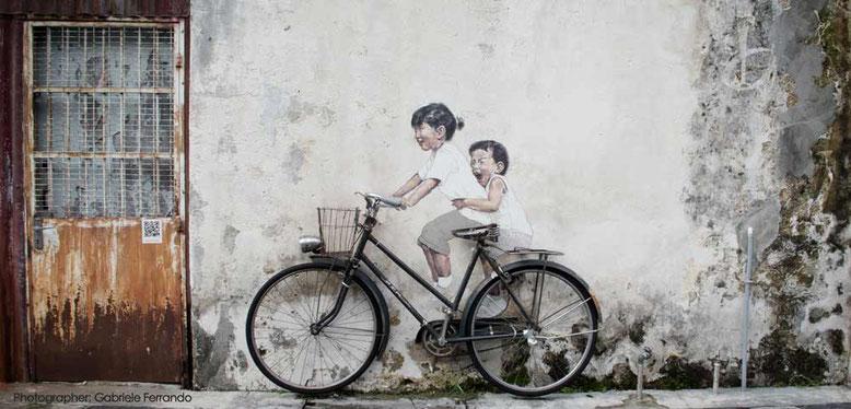 Uno dei murales piu famosi di Penang (Photo by Gabriele Ferrando)