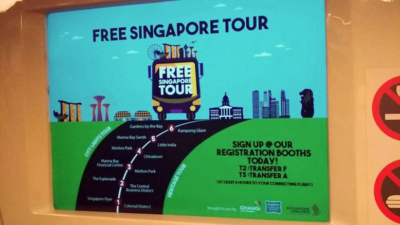 Aeroporto di Singapore: 6 cose da fare Gratis. Free Singapore Tour