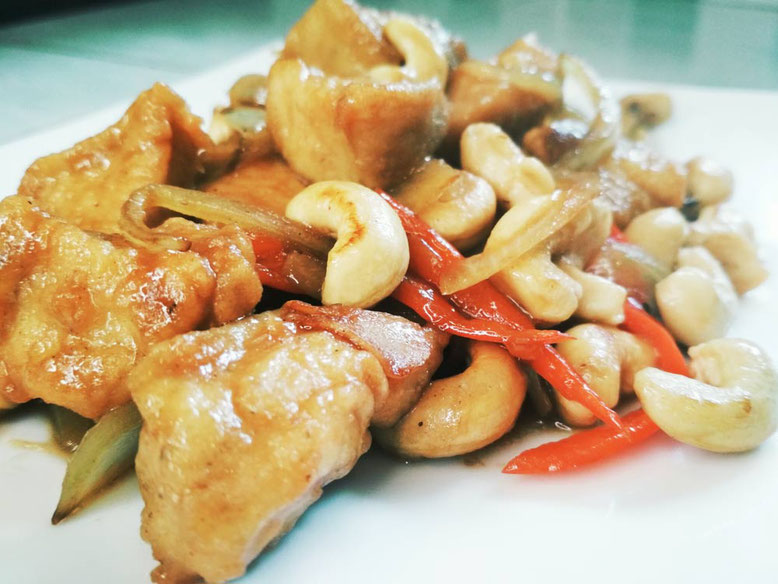 Ricetta del Gai Pad Med Mamuang, pollo con anacardi in stile Thai