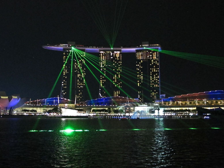 Singapore con i bambini. Spectra Light Show Marina Bay