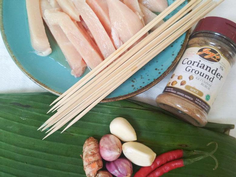 Ricetta Sate Ayam. Ingredienti