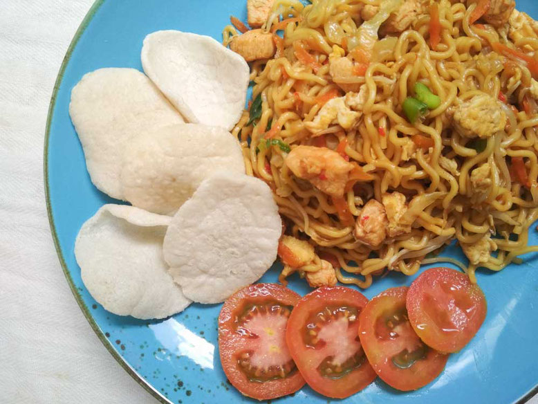 Ricetta Mie Goreng, noodles saltati all'indonesiana