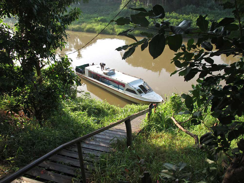 Slow Boat da Battambang a Siem Reap. Molo