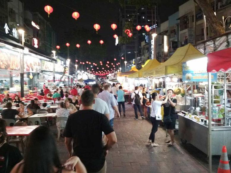 Kuala Lumpur cosa vedere in 3 giorno. Cena alle bancarelle di Jalan Alor