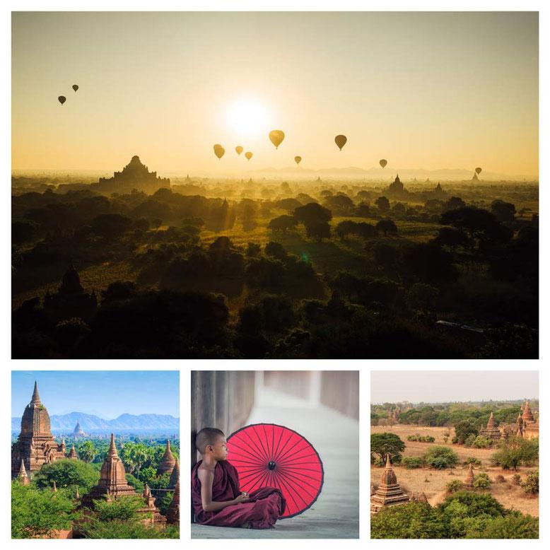 Viaggio di gruppo in Birmania. Collage 3
