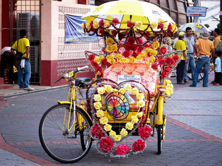 Trasporti Malacca. Rickshaw