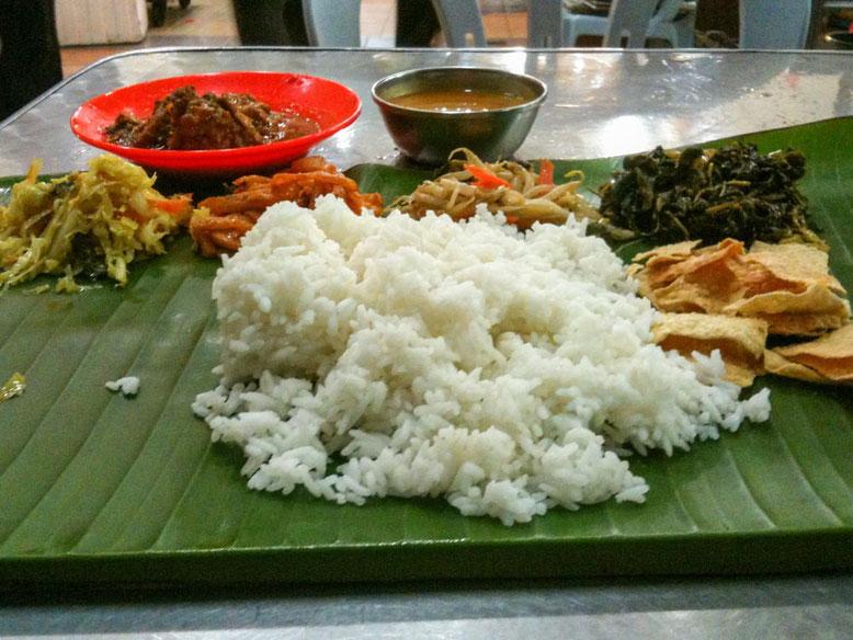 Singapore: piatti tipici da provare. Banana Leaf Set