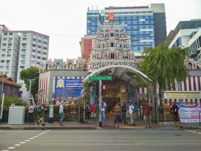 SINGAPORE LITTLE INDIA. Sri Veeramakaliamman Temple