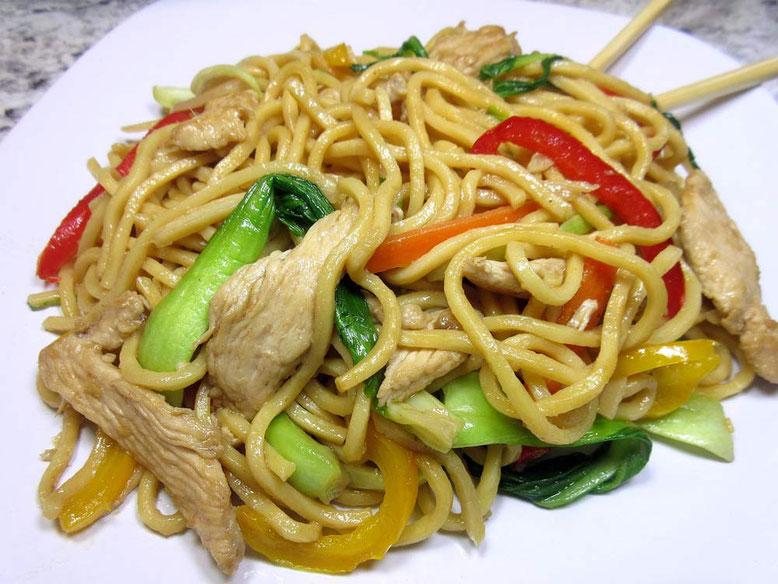 Ricetta Lo Mein noodles cinesi