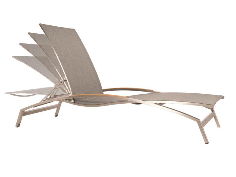 Sonnenliege Bronze mit verstellbarer Rückenlehne