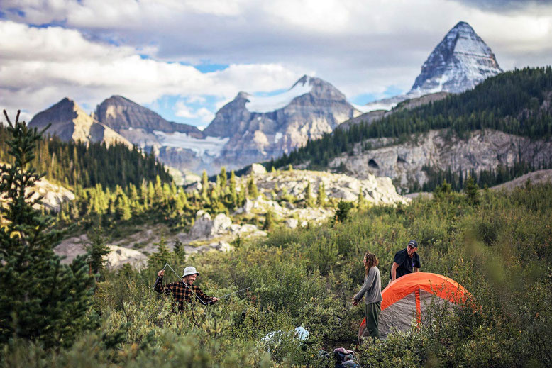 Travel guide to the Canadian Rockies -camping, Campground at Og Lake, Mt Assiniboine