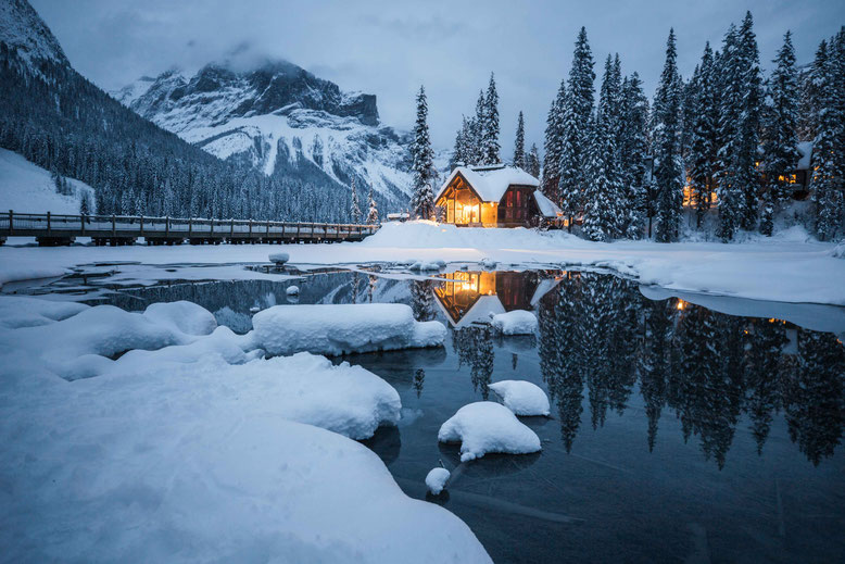 Canadian Rockies in Winter Emerald Lake Lodge