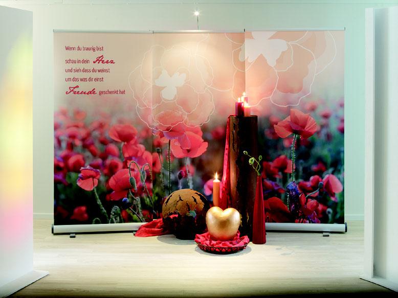 farewell-print, Roll up, Bestattungsmesse lexikon-bestattungen
