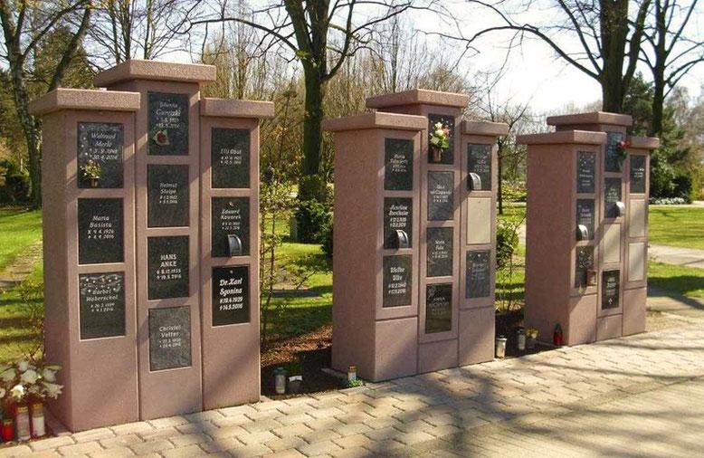Urnenstelen KVG 07, Bestattungsmesse lexikon-bestattungen