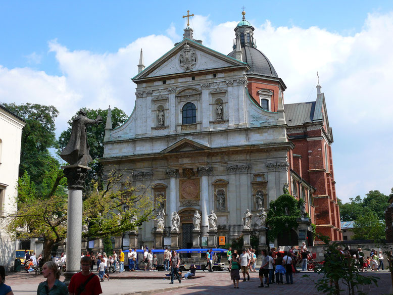 Eine von zahlreichen Kirchen Krakaus (Foto Jörg Schwarz)