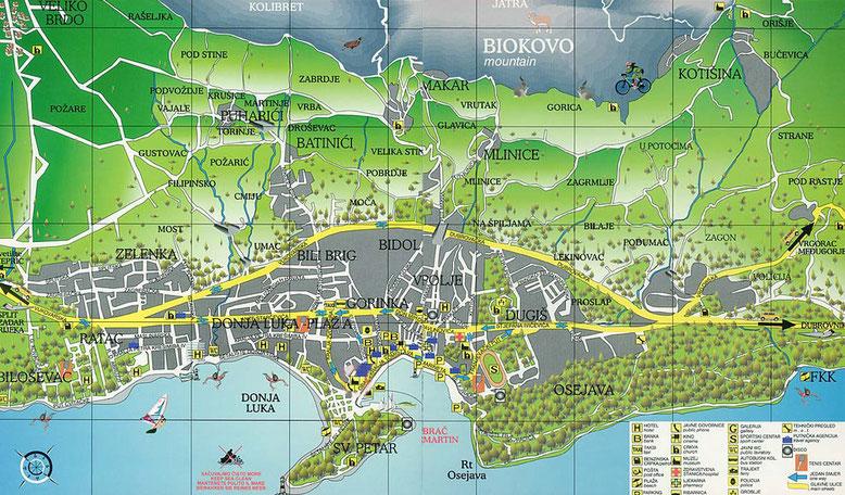 Карта города Макарска