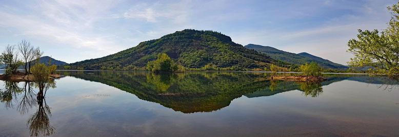Handy-Panorama vom Lac de Salagou