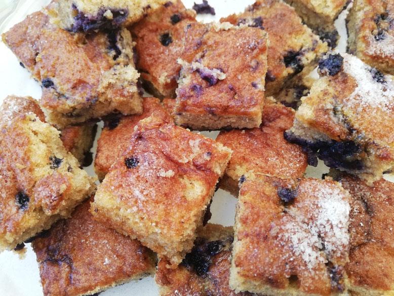 Leckerer Einkorn-Heidelbeer-Kuchen