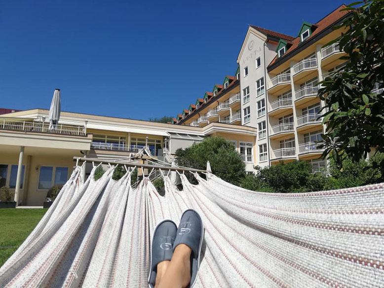 Chillen im Hotelgarten