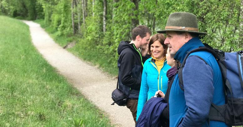 Martina auf Recherche-Reise: Tourismuskonzept Waldness im Almtal (OÖ), Foto: Melanie Deisl