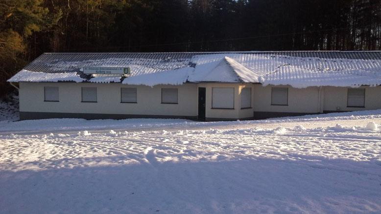 Schützenhalle im Winterschlaf