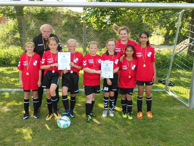 Heider SV E-Juniorinnen, Meister Kreisliga West