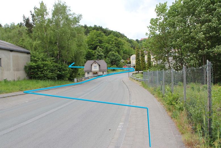 Fussweg zum Bogenparcours Marsberg