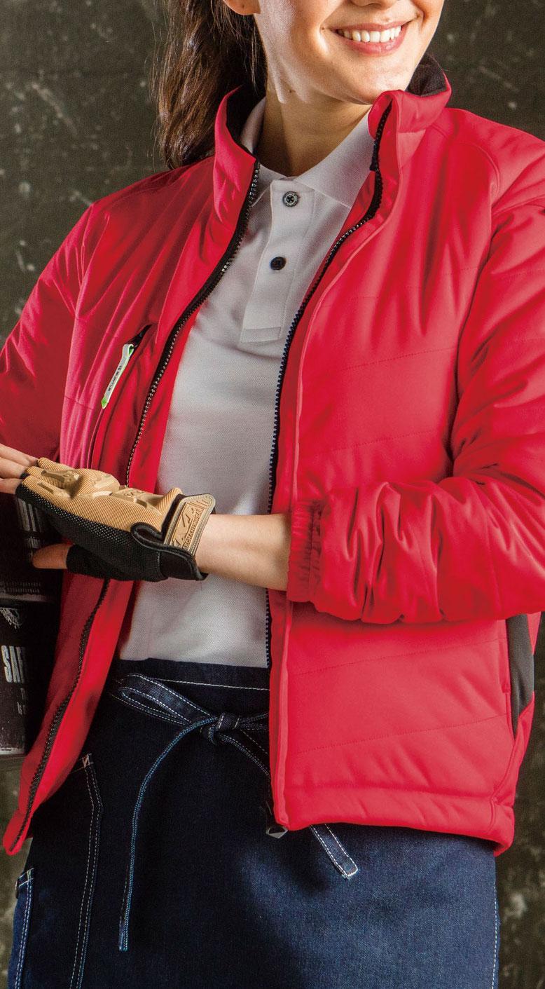 BURTLE(バートル)7410 防風ストレッチ軽防寒ブルゾン ちょー軽いので、女性の方にもおススメです。