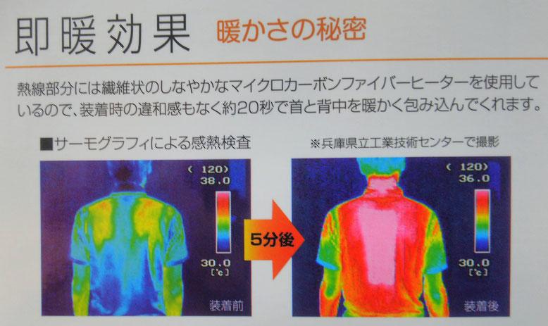 40000 防寒あったかベスト~Wスイッチヒート~即暖20秒、首と背中を同時に暖かく包み込みます